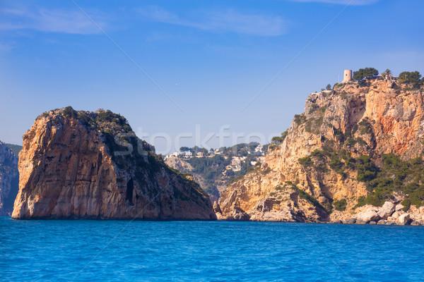 Javea Isla del Descubridor torre Granadella Alicante Stock photo © lunamarina