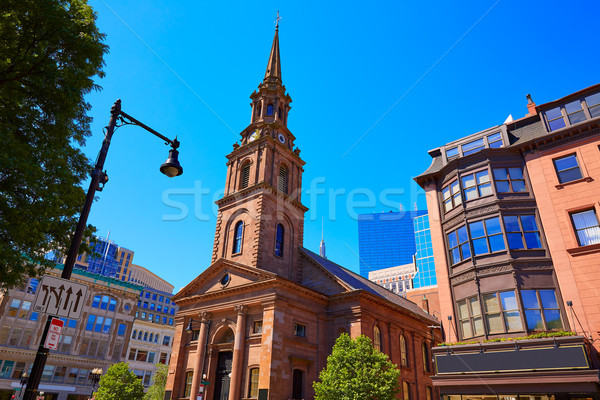 Boston strada chiesa Massachusetts USA cielo Foto d'archivio © lunamarina