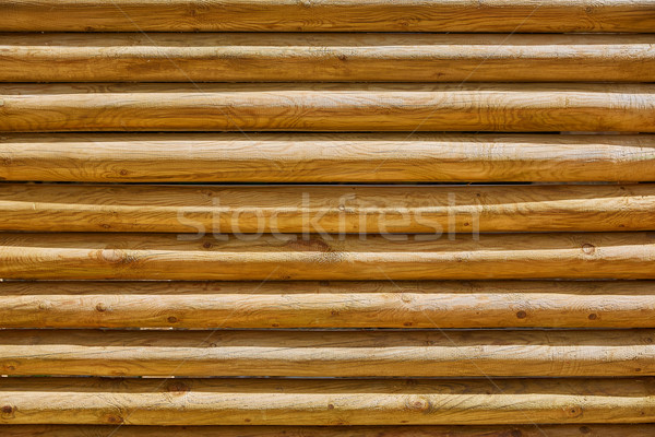 fence of stacked round trunks wood pattern Stock photo © lunamarina