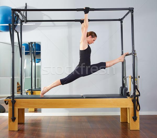 Pilates mulher pernas exercer ginásio saúde Foto stock © lunamarina