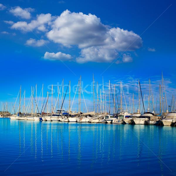 Marina portu Hiszpania łodzi słoneczny niebieski Zdjęcia stock © lunamarina