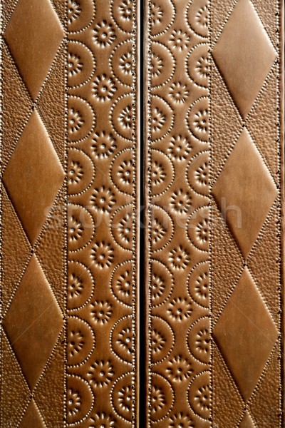 embossed brass vintage old church door detail Stock photo © lunamarina