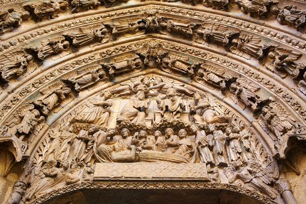 Catedral gótico arco España puerta edificio Foto stock © lunamarina