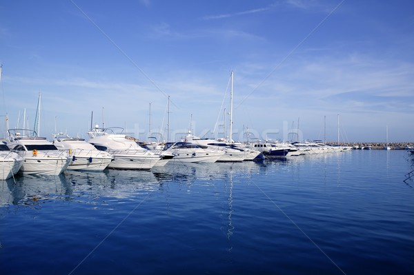 Mallorca kikötő kikötő marina Spanyolország jacht Stock fotó © lunamarina