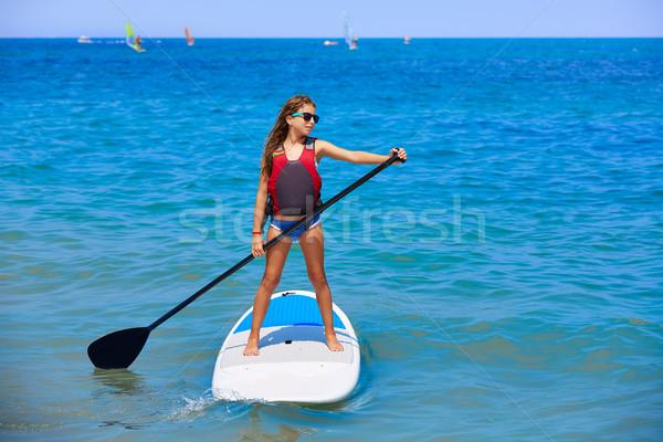 Сток-фото: Kid · поиск · Surfer · девушки · пляж