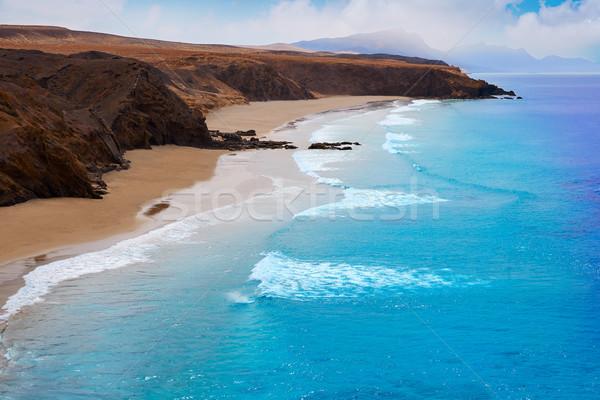 La praia canárias céu água paisagem Foto stock © lunamarina