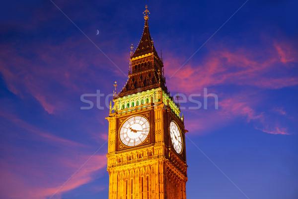 Big Ben zegar wieża Londyn Anglii miasta Zdjęcia stock © lunamarina