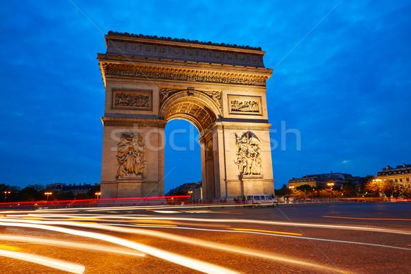 Arc de Triomphe Paryż arch. triumf wygaśnięcia Francja Zdjęcia stock © lunamarina