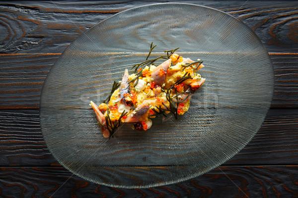 Салат сливочный сыра кукурузы копченый продовольствие Сток-фото © lunamarina