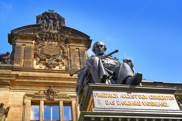 Friedrich August II Denkmal Dresden statue Germany Stock photo © lunamarina