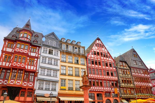 Frankfurt Romerberg square Old city Germany Stock photo © lunamarina
