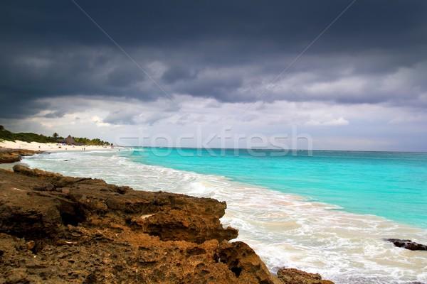 Orkaan tropische storm begin caribbean zee Stockfoto © lunamarina