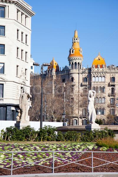 Barcelona Placa de Catalunya plaza de cataluna Stock photo © lunamarina