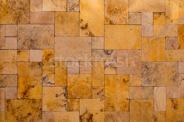 Kamieniarstwo złoty kamień mozaiki domu budowy Zdjęcia stock © lunamarina