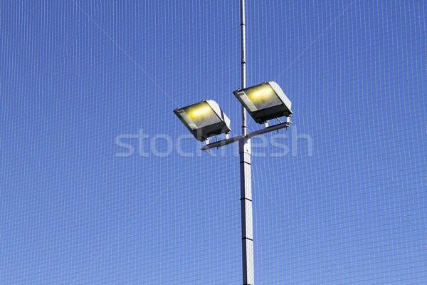 Sport domaine matériel d'éclairage lumière bleu clair Photo stock © lunamarina