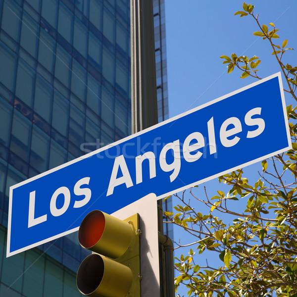La Los Angeles teken foto centrum afbeelding Stockfoto © lunamarina
