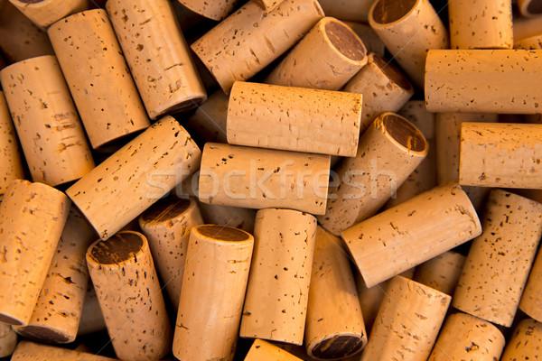 wine bottle corks pattern texture Stock photo © lunamarina