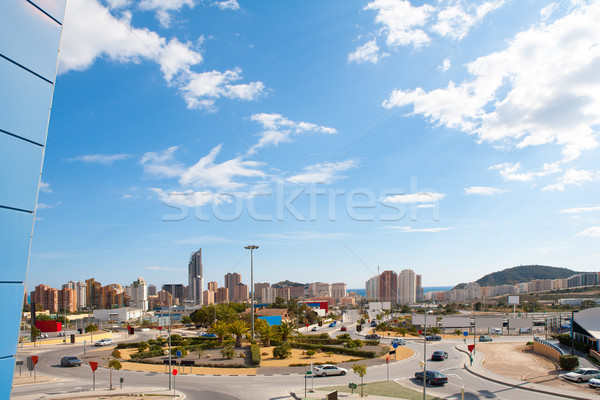 Benidorm Alicante cityscape skyline vacation destination Stock photo © lunamarina