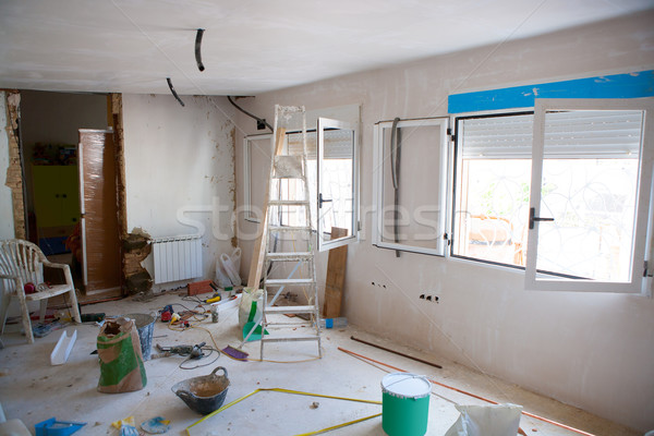 House indoor improvements in a messy room construction Stock photo © lunamarina