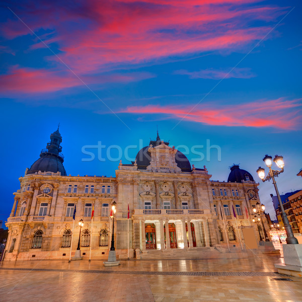 Ayuntamiento de Cartagena Murciacity hall Spain Stock photo © lunamarina