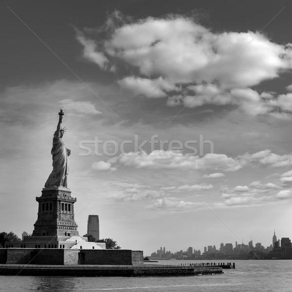 Heykel özgürlük New York Manhattan ABD nehir Stok fotoğraf © lunamarina