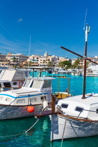 Majorca jachthaven haven boten water landschap Stockfoto © lunamarina