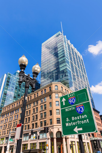 Boston Massachusetts centro cityscape USA cielo Foto d'archivio © lunamarina