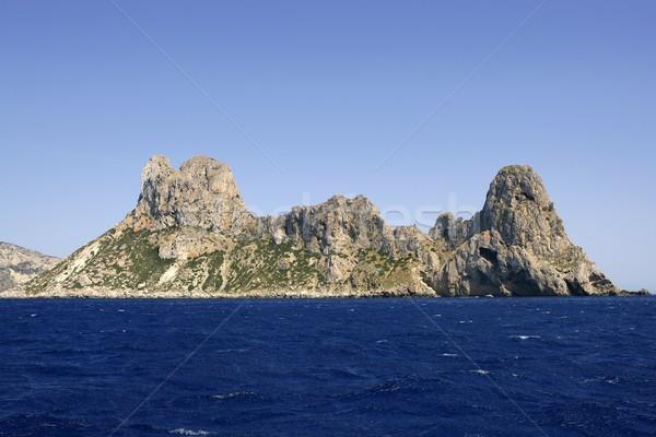 Ibiza mediterranean island blue seascape Stock photo © lunamarina