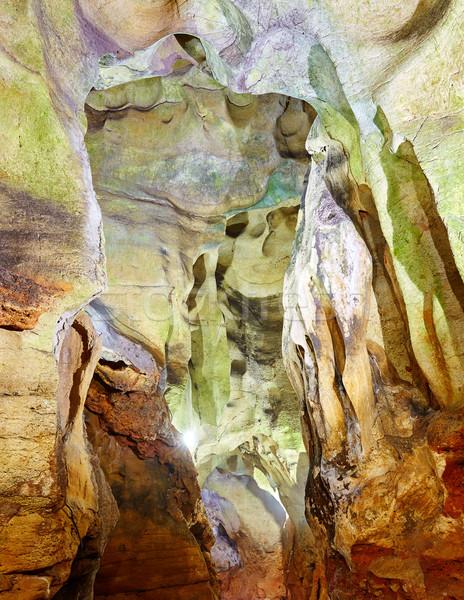 пещера текстуры рок интерьер антикварная красивой Сток-фото © lunamarina