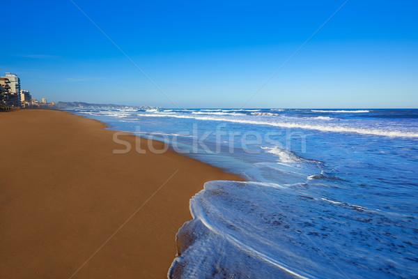 Tavernes de Valldigna beach dunes in Valencia Stock photo © lunamarina