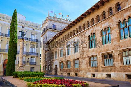 ストックフォト: バレンシア · パラオ · 広場 · スペイン · 通り · 芸術