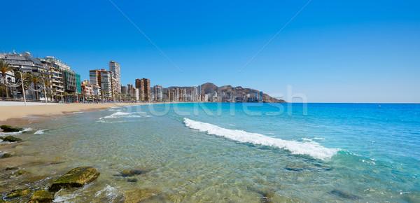 Praia Espanha mediterrânico céu água paisagem Foto stock © lunamarina
