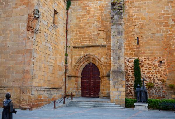 Caceres San Juan church square in Spain Stock photo © lunamarina