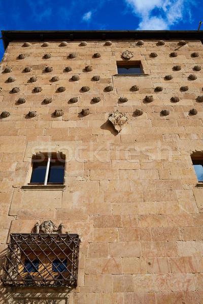 Shell casa ciudad pared piedra arquitectura Foto stock © lunamarina