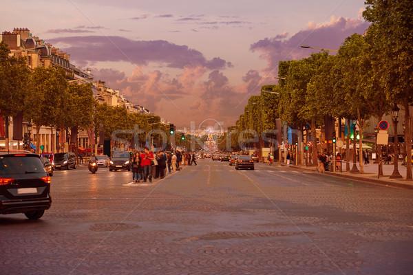 Champs Elysees avenue in Paris France Stock photo © lunamarina