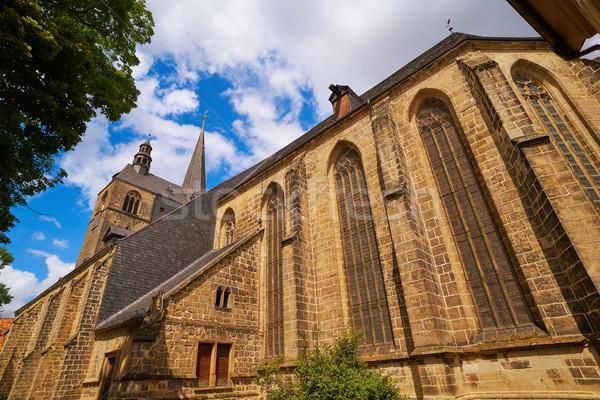Allemagne ville ciel mur rue église Photo stock © lunamarina