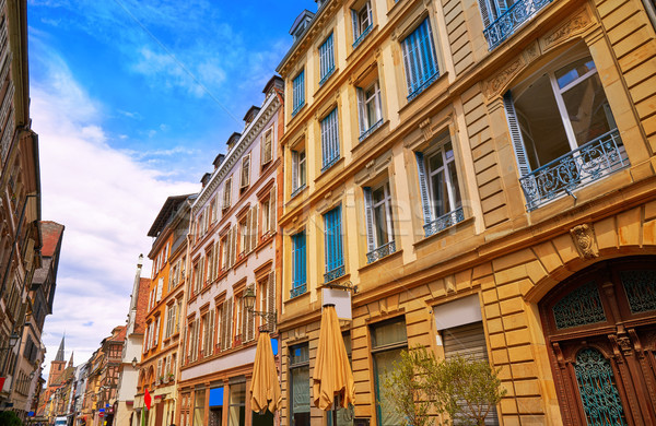 Strasbourg Grand rue street facades in France Stock photo © lunamarina