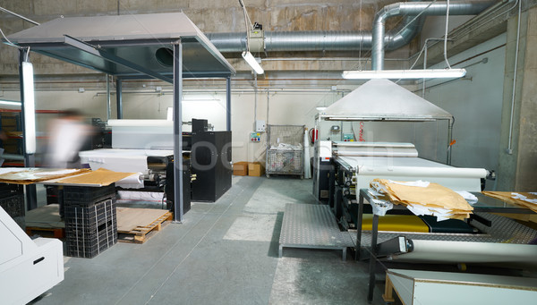 Calender transfer machine for textile fashion print Stock photo © lunamarina
