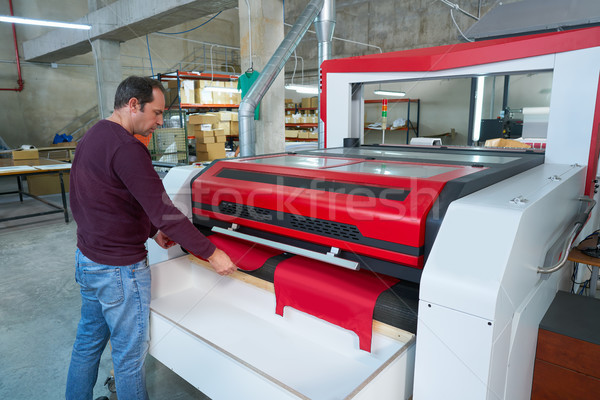 Laser cutting machine for textile transfer industry Stock photo © lunamarina