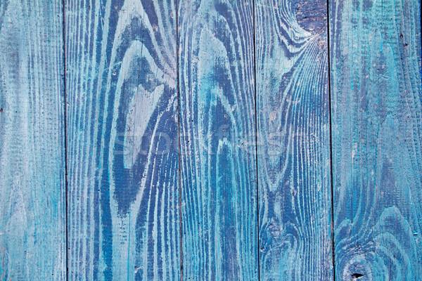 Stockfoto: Blauw · verweerde · hout · deur · textuur · goede