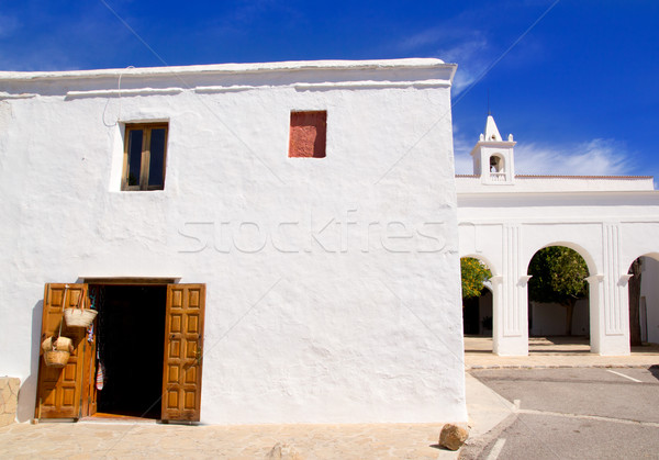 Ibiza San Miguel de Balansat white church Stock photo © lunamarina