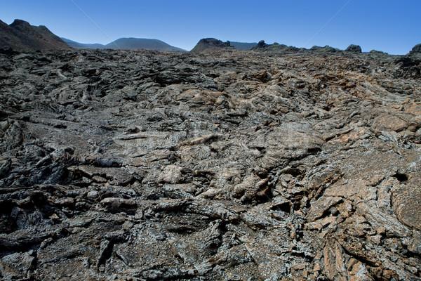 火災 山 溶岩 公園 石 ストックフォト © lunamarina