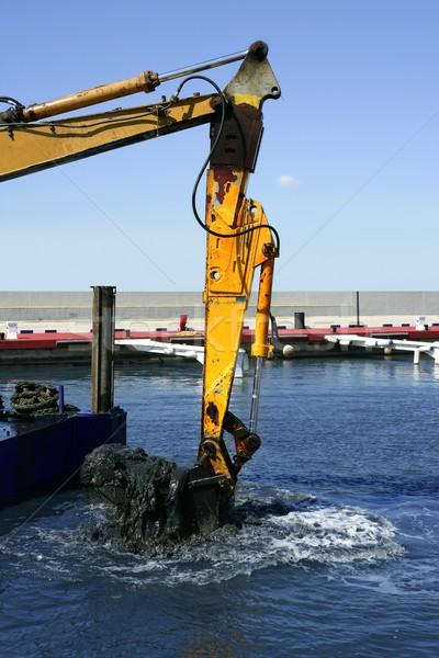 Tengeri tenger fenék fekete sár marina Stock fotó © lunamarina