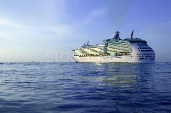 Rejs wyspa morze Śródziemne Świt Hiszpania wody Zdjęcia stock © lunamarina