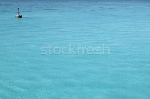 Caribbean turquoise sea with floating buoy Stock photo © lunamarina