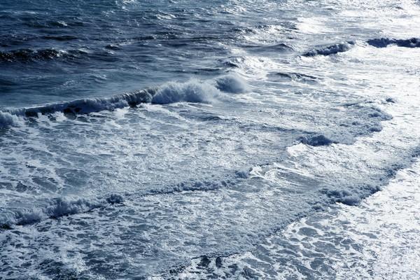 Blue sea ocean waves detail viewed from bird view Stock photo © lunamarina