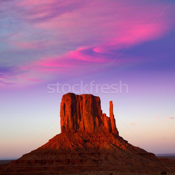 долины Запад закат небе красочный Юта Сток-фото © lunamarina