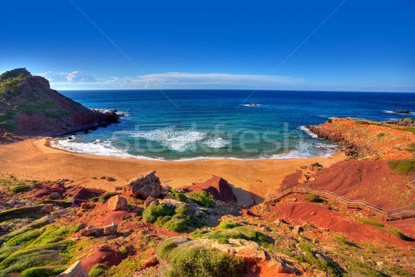 Cala Pilar beach in Menorca at Balearic Islands Stock photo © lunamarina