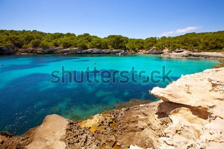 Foto stock: Mediterrânico · turquesa · céu · água · sol · mar