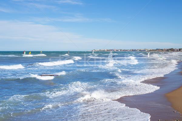 風 サーフィン コミュニティ 地中海 青 海 ストックフォト © lunamarina